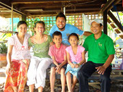 Sarin and family at their house in Battambang, Cambodia. Lovely family!