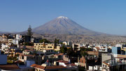 El Misti Volcano - view from our CouchSurfing Host's balcony!