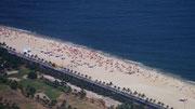 view of the beach from Pedra da Gávea, Rio de Janeiro, Brazil