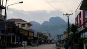 on the streets in Vang Vieng, Laos