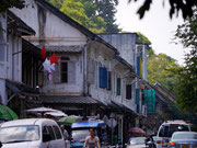French colonial building on the streets in Luang Prabang, Laos