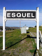 at the train station in Esquel, Argentina