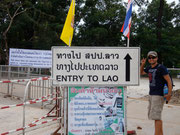 crossing the Thailand / Laos border en route to Pakse, Laos
