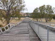 the old Gundagai Bridge, Gundagai, New South Wales, Australia