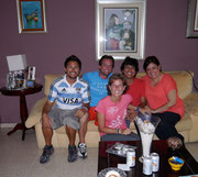 with our CouchSurfing family - the wonderful Juan Pablo and family!