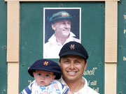 father and son in CLUB hats - Bowral, New South Wales, Australia