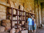 Pottery remains at the Trinidad, Jesuit Settlements in Paraguay