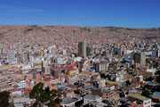 View from Mirador Killi Killi - La Paz, Bolivia