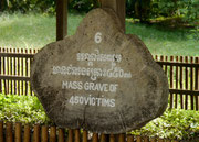 mass graves at the Khmer Rouge Killing Fields