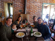 Lunch with Fede, Katalina, Fede & us in the countryside outside Cordoba, Argentina