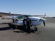 ready for our flight over the Nazca Lines, Nazca, Peru