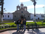 Riobamba, Ecuador with our CS host Paul Moreno in the main plaza in front of the cathedral (Aug 2012)