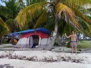 tent set up and ready to go - Islas San Blas, Panama