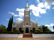 Church in the small town of Aregua, Paraguay
