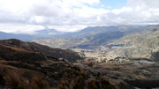 view of the surrounding area from the Quilotoa Volcanic Crater, Ecuador