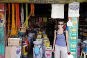Deborah outside the local markets in Loboc, Bohol