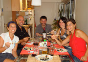 """Sushi night with Maria Sol, Augustine, """"Salmon"""" and Matt place, Buenos Aires, Argentina"""
