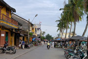 on the streets in Hoi An, Vietnam