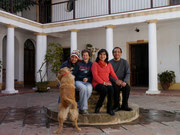 with our homestay family in Sucre, Bolivia