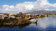 One of the floating villages, Lake Titicaca, Puno