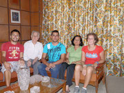Cali, Colombia with our CS host Felipe Nino Morales and his mother and abuelo! (Sep 2012)