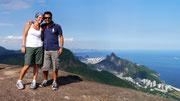 Fudgie & Dingo on top of Pedra da Gávea, Rio de Janeiro, Brazil
