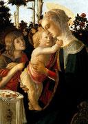 Мадонна с младенцем и со святым Иоанном Крестителем 1468-1472 лувр.