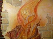 художественная роспись стен,фреска