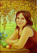 портрет Лариса (живопись, холст, масло.)