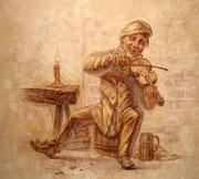 Персонаж ческого музыканта ,карлика, известен и любим ческой публикой.