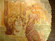 роспись стен в интерьере ресторана