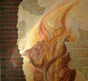 художественная роспись стен, фреска