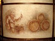 """Художественная роспись стен """"монах хранитель погребка."""""""