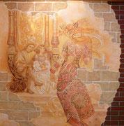роспись стен в интерьере, фреска