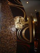 роспись стен кухни золотом