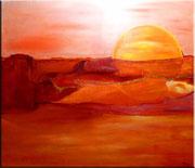 Sonnenuntergang - 140 x 120 cm