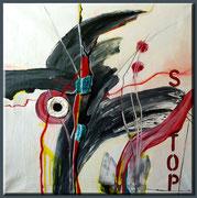 Stopp - 60 x 60 cm