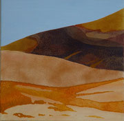 Sossusvlei - oil and Namibsand on canvas - 40 x 40 cm