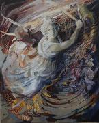 Medeia ( Baroque version ) acryl with sand - 100 x 81 cm