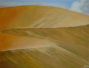 Sossusvlei 2 Namibië - acryl and Namibsand on canvas - 65 x 50 cm