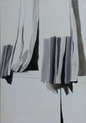 """N.Y Curtains"" 135x95cm Oil on paper mounted on canvas"