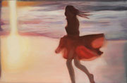 """Sunset"" 12M (39x61cm) Oil on wood"