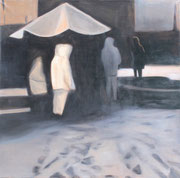 """Snow"" 130x130cm  Oil on paper mounted on canvas"