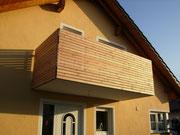6. Geländer mit Holz-Füllung