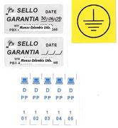 Diversos formatos en etiquetas de poliester, y sello de seguridad en Metal Void