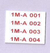 Tarjeta BGS de 9x45 mm autoadhesiva