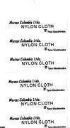 Etiqueta en tela de nylon, aplicacion para hilos de fibra en bandera