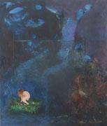 o. T. 2014; 27 x 32 cm Acryl, Öl auf Kreidepaneel