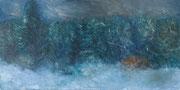 Es wird Schnee geben 2014; 40 x 20 cm Öl auf Kreidepaneel
