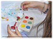 KITA Birebaum brachte tolle Hilfsmittel und Farben mit